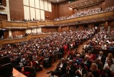 Το κατάμεστο το Μέγαρο Πολιτισμού Ahmed Adnan Saygun