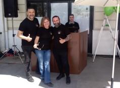O Αντιδήμαρχος Γιάννης Φωστηρόπουλος, η Κατερίνα Γιαννακοπούλου του ΑΛΜΑ και ο Πρόεδρος του HOG Αθήνας Βαγγέλης Φάλιας