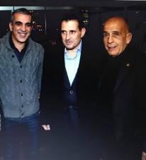 Ο Δήμαρχος Καλλιθέας Δημήτρης Κάρναβος και ο Ολυμπιονίκης Πέτρος Γαλακτόπουλος