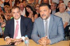 O Βουλευτής ΝΔ κ. Σπανάκης και ο Δήμαρχος Παλ. Φαλήρου κ. Φωστηρόπουλος
