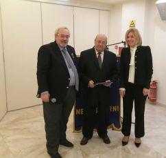 Ο Πρόεδρος Ν. Καραχάλιος, ο Ν. Αγγελίδης και η Αντιπεριφερειάρχης Δ. Νάνου