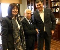 Η Πρόξενος Αργυρώ Παπούλια και οι Δήμαρχοι Σταύρος Τζουλάκης και Cemil Tugay